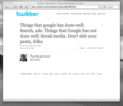 Twitter / Ed Finkler: Things that google has don ...