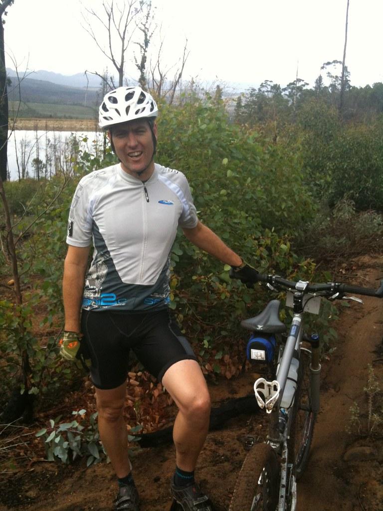 Mountain bike ride on Lourensford Estate - Lyle Romanes