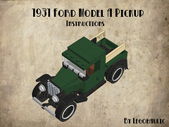 1931 Ford Model A Pickup Instructions (Legohaulic) Tags: ford truck modela lego instructions cad