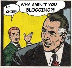 Why Aren't You Blogging? (Mike Licht, NotionsCapital.com) Tags: writing comics media satire newspapers blogs blogging comicbooks parody press journalism journalists mikelicht notionscapitalcom