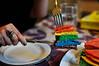 Giant Rainbow Pancake (moyemotto) Tags: cooking pancake rainbows