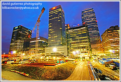 Rebuilding the City of London - Canary Wharf (david gutierrez [ www.davidgutierrez.co.uk ]) Tags: road street city trip travel blue light vacation sky urban holiday color building london art tourism glass lamp colors architecture modern composition skyscraper buildings wonderful point photography photo europe poplar colours view angle image artistic weekend gorgeous sony awesome capital perspective picture cities officebuilding wideangle pic more foster 350 hour future stunning excellent bluehour unusual lovely alpha fabulous avenue canarywharf rebuilding municipality onecanadasquare westindiaquaystation westindiadocks flickrsbest londonboroughoftowerhamlets platinumphoto superaplus aplusphoto michaelvonclemm theunforgettablepictures fredolsenlines sony350dslra350