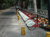 Bicycles 1 (pedro vit) Tags: red bicycle mexico mexicocity df perspective bicycles repetition challengeyouwinner ltytr1 ecobici