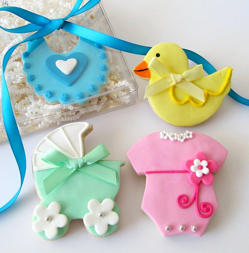 Baby Shower cookies - gift box