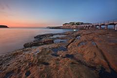 Bare Island Blues (Xenedis) Tags: morning bridge blue seascape reflection water sunrise dawn rocks australia nsw newsouthwales laperouse bareisland