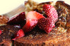 Brioche French Toast (ralph and jenny) Tags: nyc newyorkcity food newyork breakfast hotel strawberry berries strawberries roomservice briochefrenchtoast nikond90 jumeirahessexhouse af60mmf28g