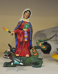 santa marta with dragon (Teyacapan) Tags: santa wood mexicana mexico madera martha crafts artesanias saints dragons oaxaca marta carvings