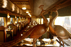 Maharajas' Express Luxury Train (India) - Restaurant (Train Chartering & Private Rail Cars) Tags: privatetrain privaterailcar chartertrain traincharter privatecharter trainchartering privatecarriage simonpielow luxurytrain luxurycharter indianluxurytrain maharajasexpress luxurytravelclub