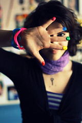 Undiscovered Artist (Ai in Technicolor) Tags: art smile eyes artist colours hand occhi mano sorriso colori sailormoon happines