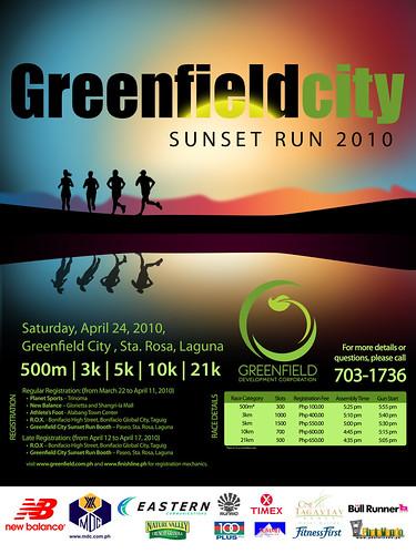 greenfield city sunset run