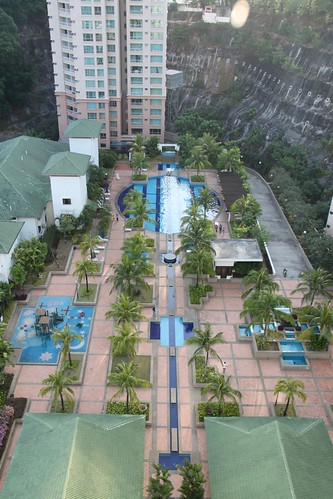The swimming pool and playground