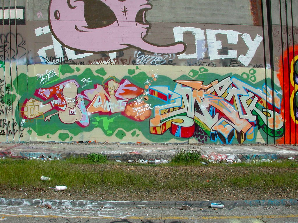 JURNE, DMENT, DEMENT, HCM, Graffiti, Oakland, the yard