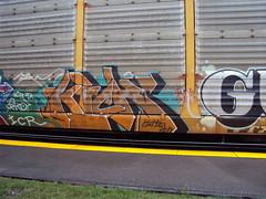 AutoRackin': Kick One (+PR+) Tags: yards graffiti trains il msk berwyn freight railcars railroads rollingstock rxr holyrollers autoracks benching kickone