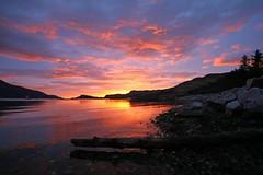 West is Best (RoystonVasey) Tags: sunset west canon eos bay coast scotland angle wide sigma jpg loch 1020mm nevis knoydart inverie lochnevis 400d