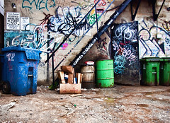 Graffiti alley, Toronto (sabesh) Tags: toronto graffiti ep2 graffitialley olympusep2 panasonic714