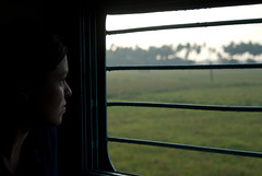 3rd tier train in tamil nadu (craigCloutier) Tags: world travel portrait people woman man window train portraits person madras rail human leisure chennai folks tamil 3rd tier nadu kumbakonam