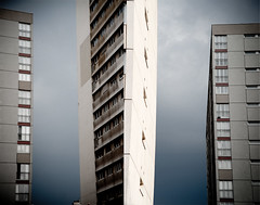 monoliths (photopholi) Tags: sky paris building architecture diptych ciel diptyque hlm immeuble 75013 nikond700