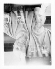 Todd of Hearts (Vic Acid) Tags: bw de doubleexposure polaroid220landcamera polaroid667film