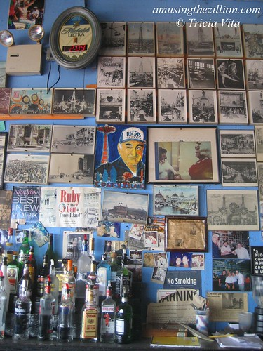 Wall of Photos at Ruby's Bar in Coney Island. Photo © Tricia Vita//me-myself-i via flickr