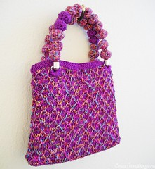 purple evening purse (11) (creationsbyeve) Tags: summer cute bag knitting europe pretty purple handmade shimmery crafts greece homemade purse handcrafted colourful etsy elegant artisan crafting stylish knitt crochetbeads handmadegifts handcraftedgifts handknitt creationsbyeve etsygreekteam