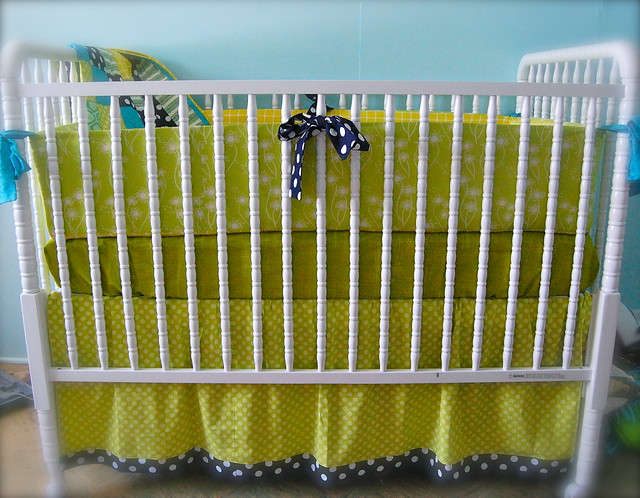 Citron Surprise Custom Crib Bedding Set