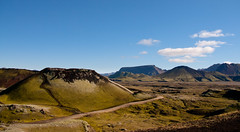 Landmannalaugar (Henrik Kalliomki) Tags: sky cloud mountain nature landscape volcano iceland highlands earth geology volcanology landmannalaugar natureplus canoneos400d cinercone
