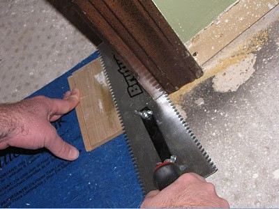 Undercutting the doorway