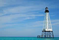 Light off the Florida coast (Matthew_Steele) Tags: blue sky lighthouse water keys aqua florida clear reef