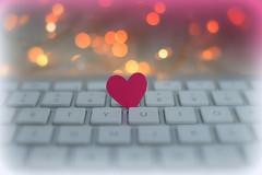 Love Y ❤ U (KissThePixel) Tags: love loveyou valentine heart hearts macro macroanyday macroeveryday macrotuesday keyboard abstract stilllife stilllifephotography creativeart creative creativephotography art bokeh realbokeh softbokeh havingfun perspective romance valentinesday computer