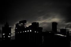 Long Night Silhouette (cyrus-de) Tags: industrial factory sky night long exposure silhouette