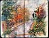 Road in Tannersville, Upstate, NY. (Nik Ira) Tags: watercolor bijoubox