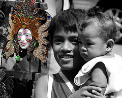 City of Smiles (sixerguy) Tags: baby smile mask philippines bacolod masskara nikond90