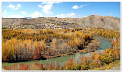 Wide Autumn (III) (1Ehsan) Tags: autumn panorama orange fall yellow iran esfahan isfahan zayanderood zayandehrood