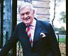 Very Dapper Matching Handkerchief and Shirt, Camden Road, London (deepstoat) Tags: street pink colour london 120 film mediumformat tie mamiya7ii autaut deepstoat
