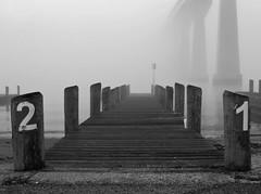 Foggy Solomons Island Pier 3