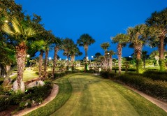 Golfing at Dusk on the Lighted Course (Stuck in Customs) Tags: travel trees sky color green water fountain grass gardens america austin golf landscape fun photography bay high nikon whitewater texas dynamic stuck suburban dusk path north august palm illuminated resort course palmtrees golfing golfcourse tropical horseshoebay horseshoe putting range 2009 grounds hdr trey customs lighted 3par cultivated ratcliff stuckincustoms d3x recentlyincorporatedcities
