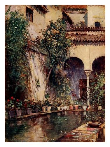 009-Sevilla  jardin de la Casa de Pilatos-Southern Spain 1908- Trevor Haddon
