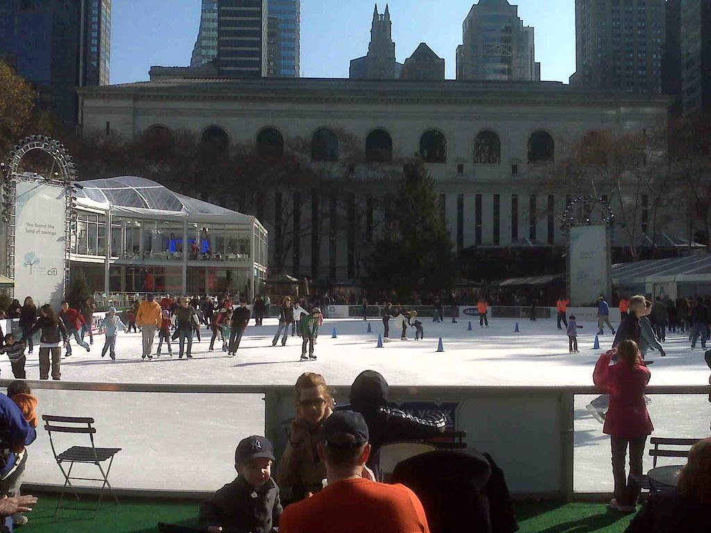Skating, Bryant Park