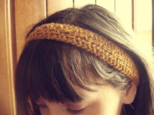 Knit headband...