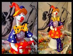 Cama de gato (Art Vanessa Lima) Tags: clown artesanato paz palhaos cabaas porongos vanessalima