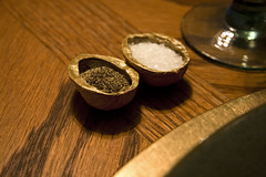 Walnut salt cellars (katopia) Tags: food table pepper salt walnut craft woodgrain saltcellers