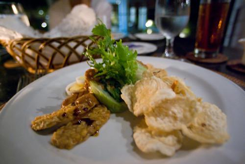 秋天,我們的峇里島 -villa 的晚餐