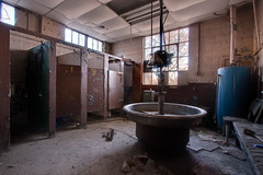 Gross Bathroom (no3rdw) Tags: urban abandoned industry bathroom factory decay steel dirty gross exploration urinal decayed urbex enfuse