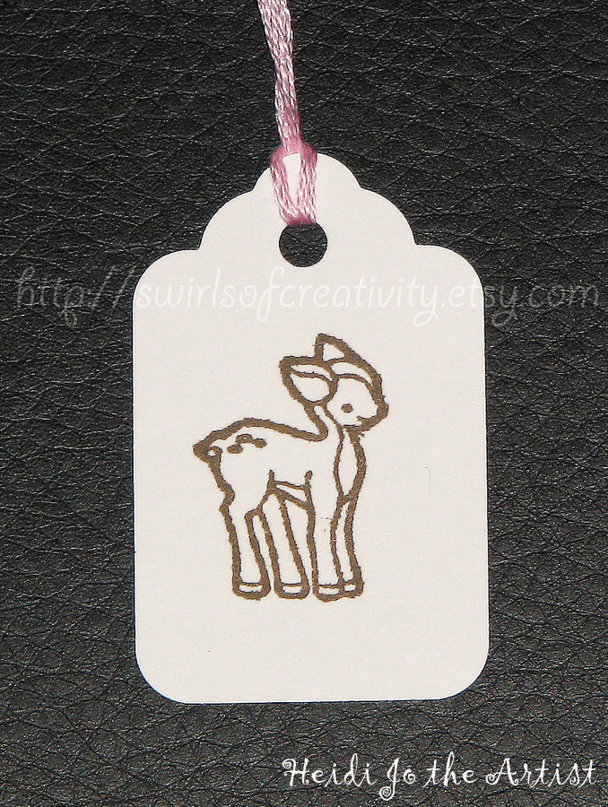 Cute Deer Tags on Etsy