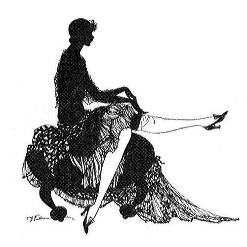 1927 Stocking Sillhouette