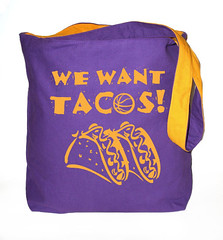 we want tacos purple front (PurplenGoldLA) Tags: lakers staplescenter losangeleslakers ilovela ilovelosangeles lakergame bostonsucks celticssuck wewanttacos lakershirt lakershirts lakertotebags lakergear lakerpics llalakers lakersimages lakerpictures youcantbeatus youcantbeatthelakers