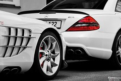 "SLR ""722"" vs SL63 AMG IWC (Keno Zache) Tags: auto slr beauty car germany munich mnchen deutschland mercedes nice sigma 63 sl 18200 rare coupe amg keno wagen 722 zache canoneos400d sl63"