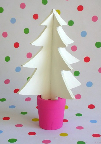 Hand painted wooden Christmas tree