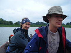 Caroline and Phil. Stawy Gadzinow (EuCAN Community Interest Company) Tags: poland 2009 eucan milicz baryczvalley