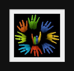 Circle of hands (hallo.dier) Tags: rock circle hands colourscolors